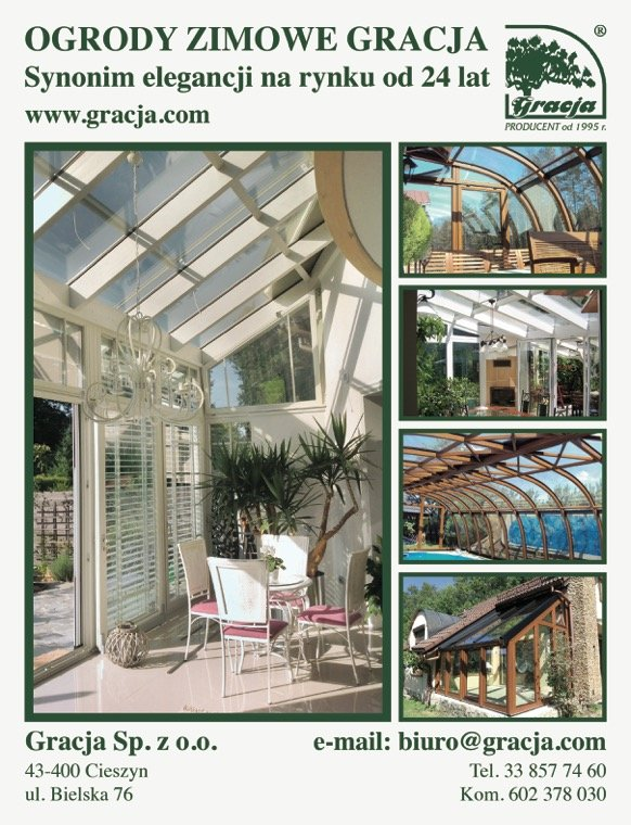 Reklama firmy Gracja w 200. wydaniu magazynu Budujemy Dom
